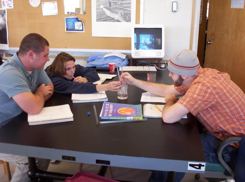 Physics Students Hard at Work